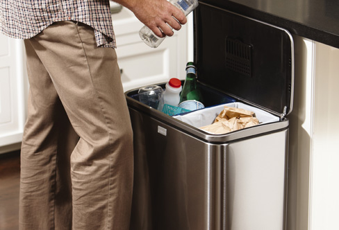 simplehuman recycling bins recycling containers. Black Bedroom Furniture Sets. Home Design Ideas