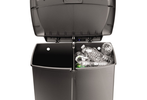 Nice ... Kitchens; Small Bathroom Trash Bin By Simplehuman Recycling Bins Amp  Recycling Containers ...