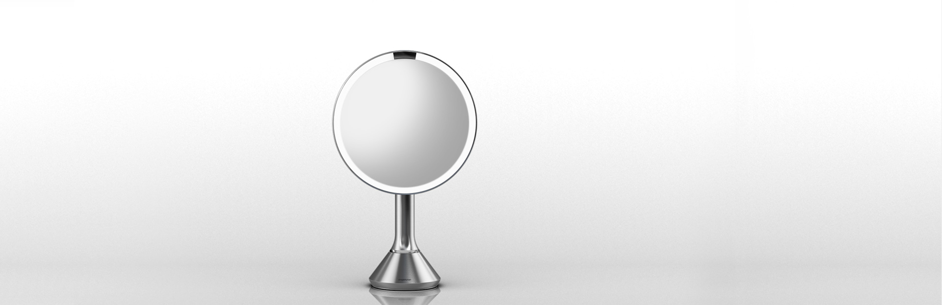 simplehuman magnifying lighted makeup vanity mirror. Black Bedroom Furniture Sets. Home Design Ideas