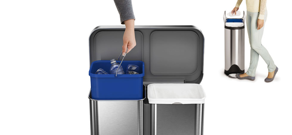 simplehuman recycling bins recycle rubbish bins containers. Black Bedroom Furniture Sets. Home Design Ideas