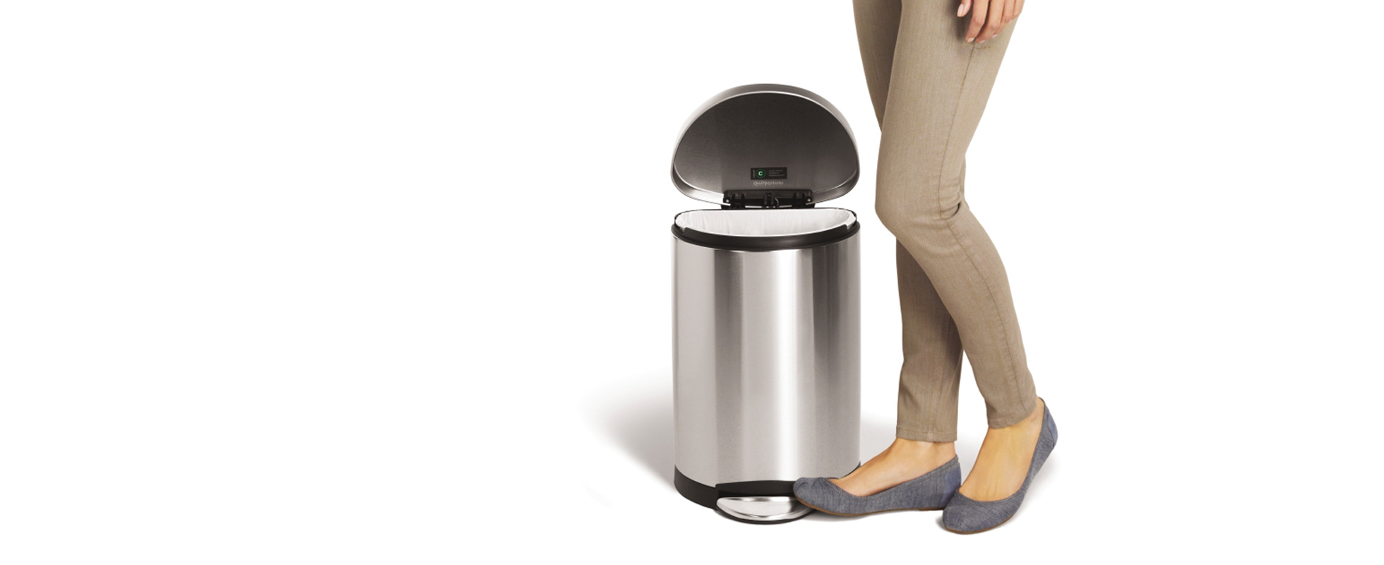 small can big attitude. simplehuman   small trash cans
