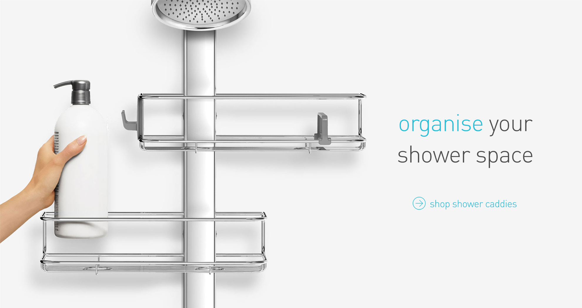 organise your shower space