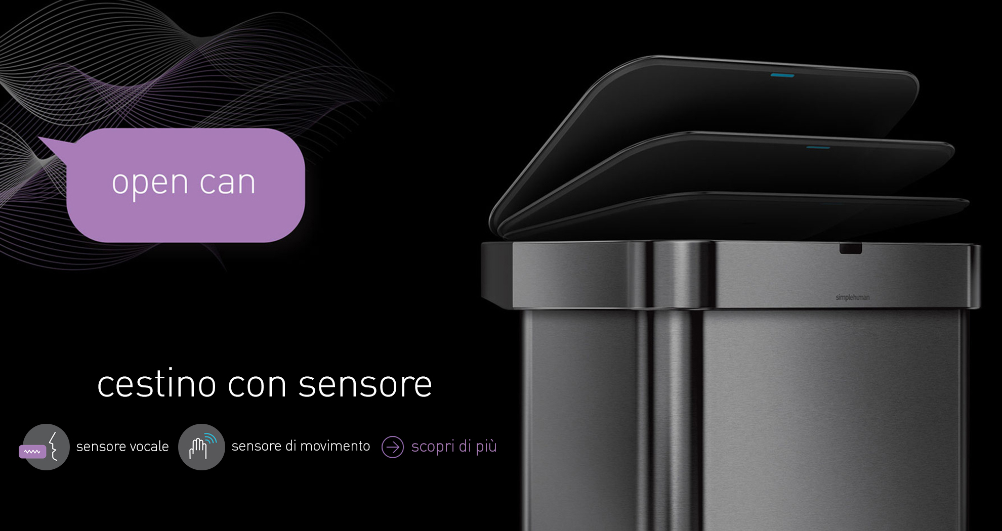 sensor bin with voice and motion sensor