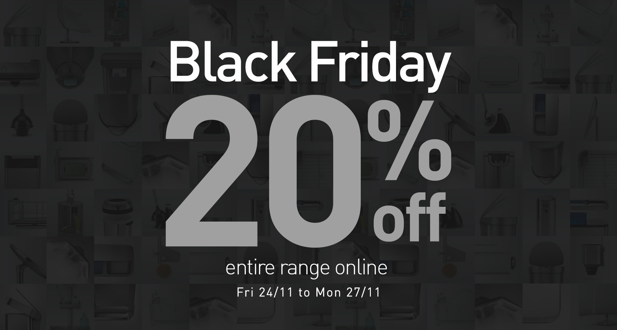 20% off Black Friday 2017