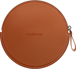simplehuman sensor mirror compact zip case, brown