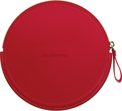 simplehuman sensor mirror compact zip case, red